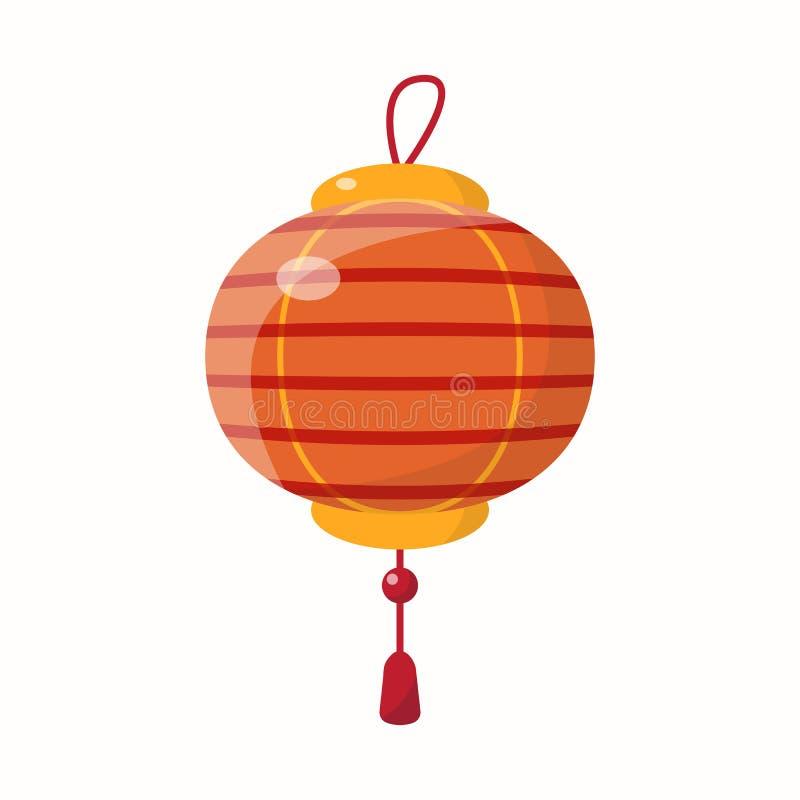Lanterna cinese di nuovo anno illustrazione vettoriale
