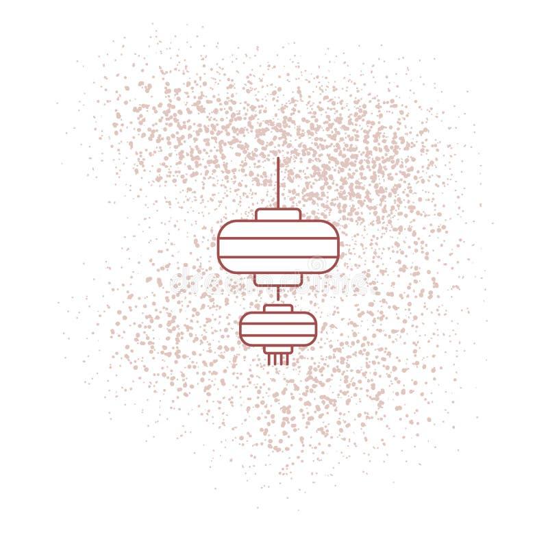 Lanterna cinese per il wallpape 2019 del nuovo anno illustrazione di stock