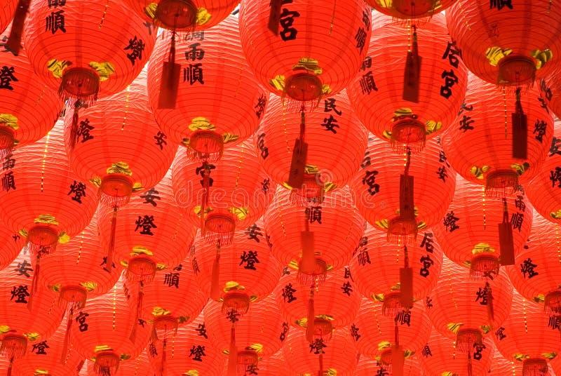 Lanterna cinese rossa e bella fotografia stock