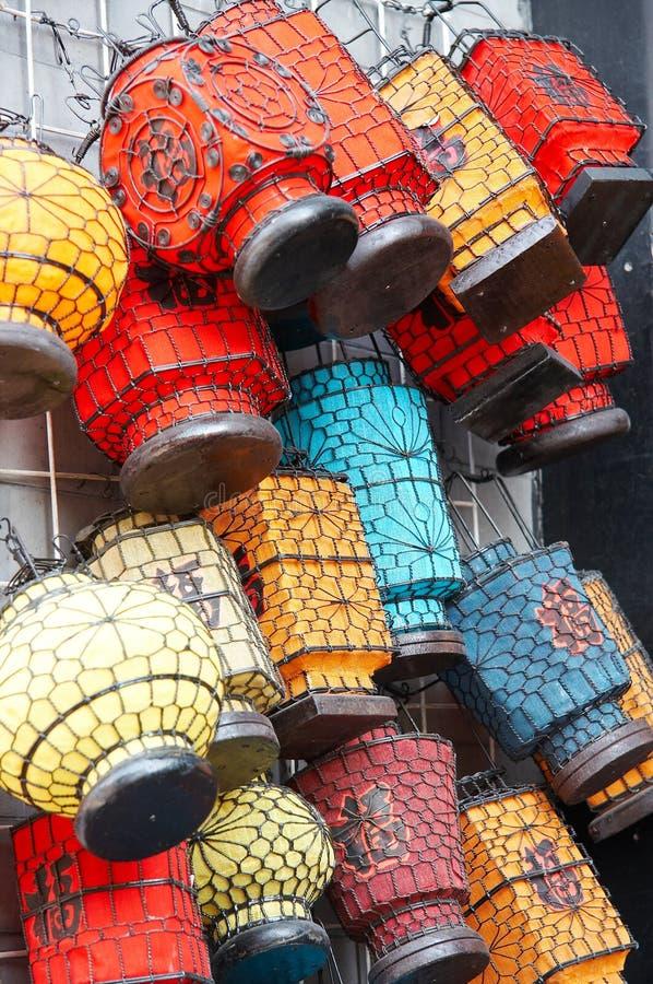 Lanterna colorida fotos de stock