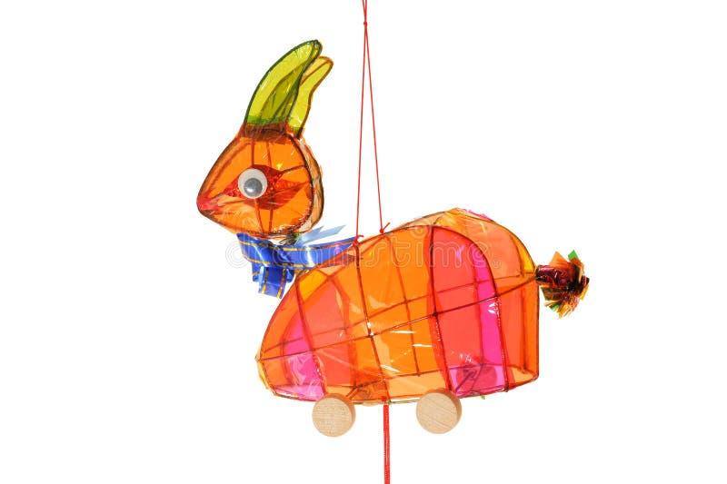 Lanterna colorida do coelho imagens de stock