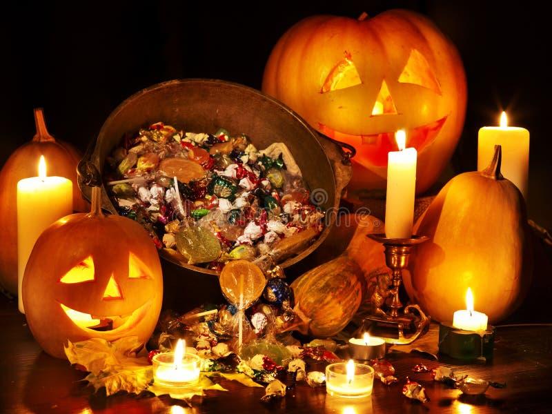 Lanterna da abóbora de Halloween. fotos de stock royalty free