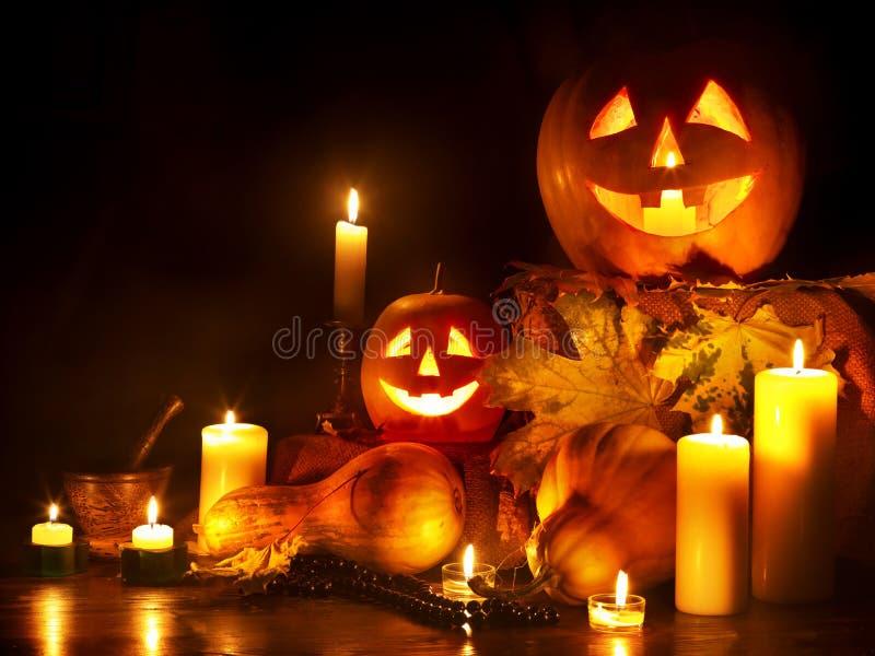 Lanterna da abóbora de Halloween. imagem de stock