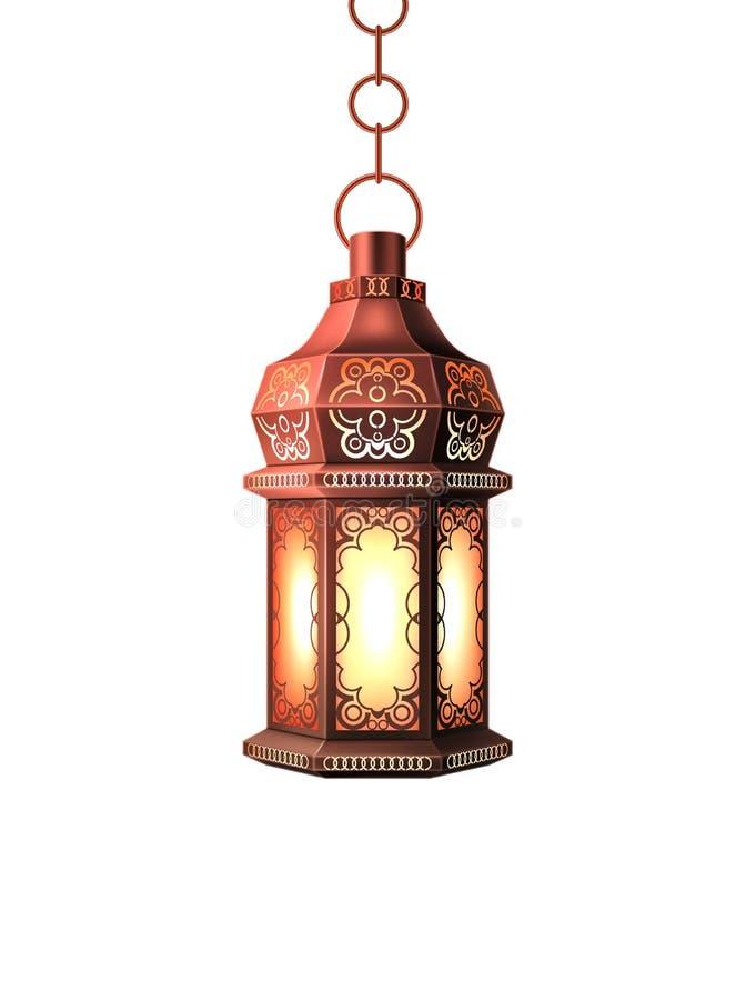 Lanterna da lâmpada do kareem de ramadan do vetor realística ilustração do vetor