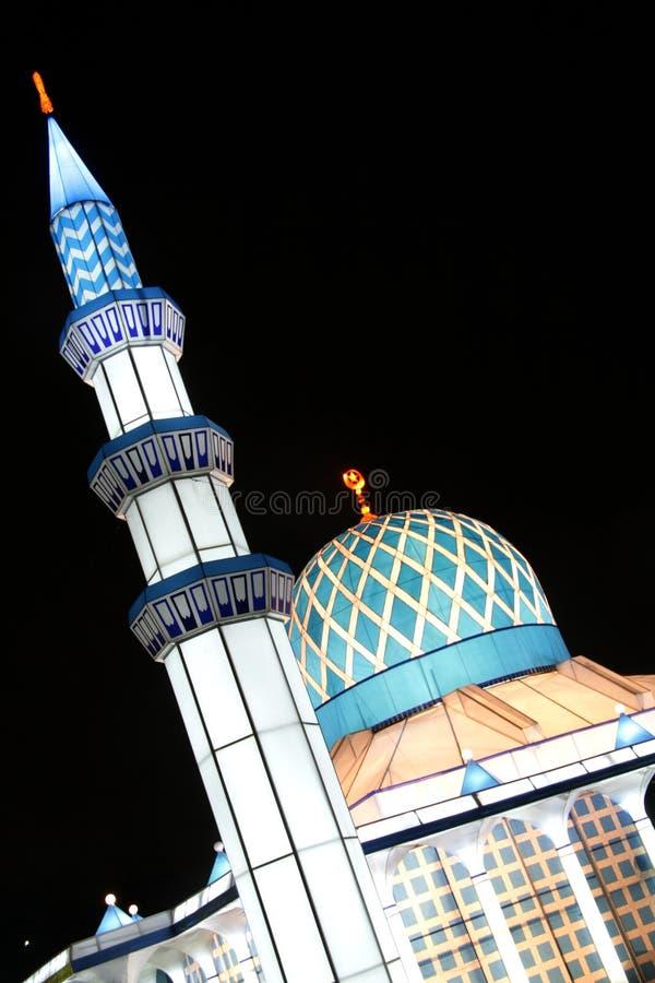 Lanterna da mesquita fotografia de stock