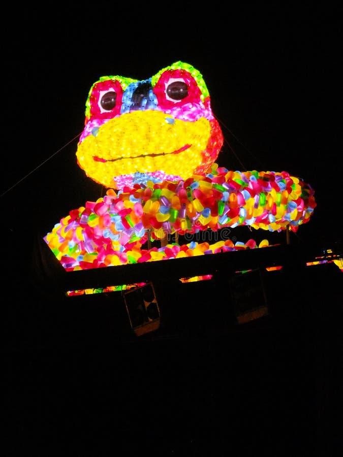 Lanterna da noite de Taipei imagens de stock