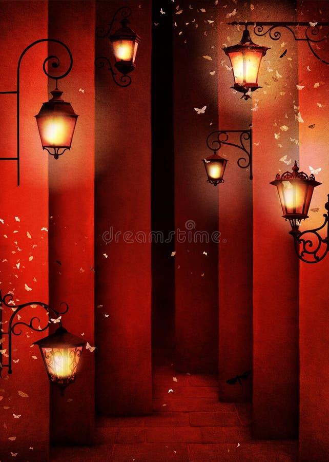 Lanterna da rua ilustração royalty free