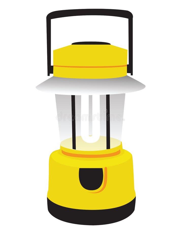 Lanterna de acampamento amarela ilustração do vetor