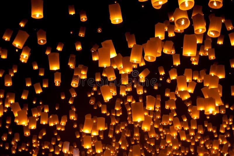 Lanterna de flutuação imagens de stock royalty free