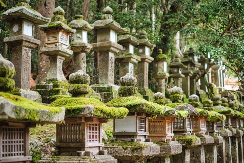 Lanterna de pedra do santuário Kasugataisha (Kasuga-taisha) fotografia de stock