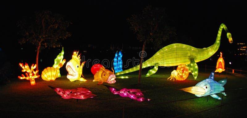 Lanterna dei pesci nei giardini immagini stock