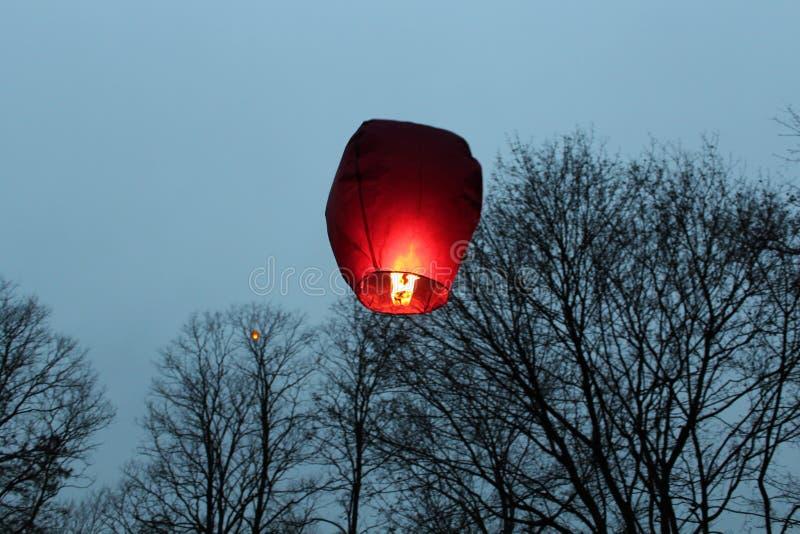 Lanterna del cielo immagine stock