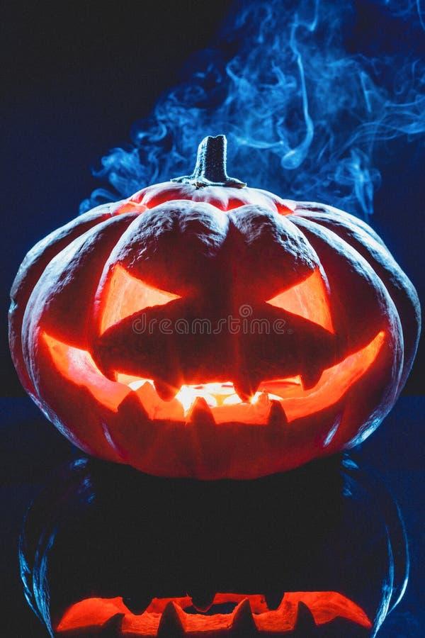 Lanterna del fantasma della zucca di Halloween immagine stock