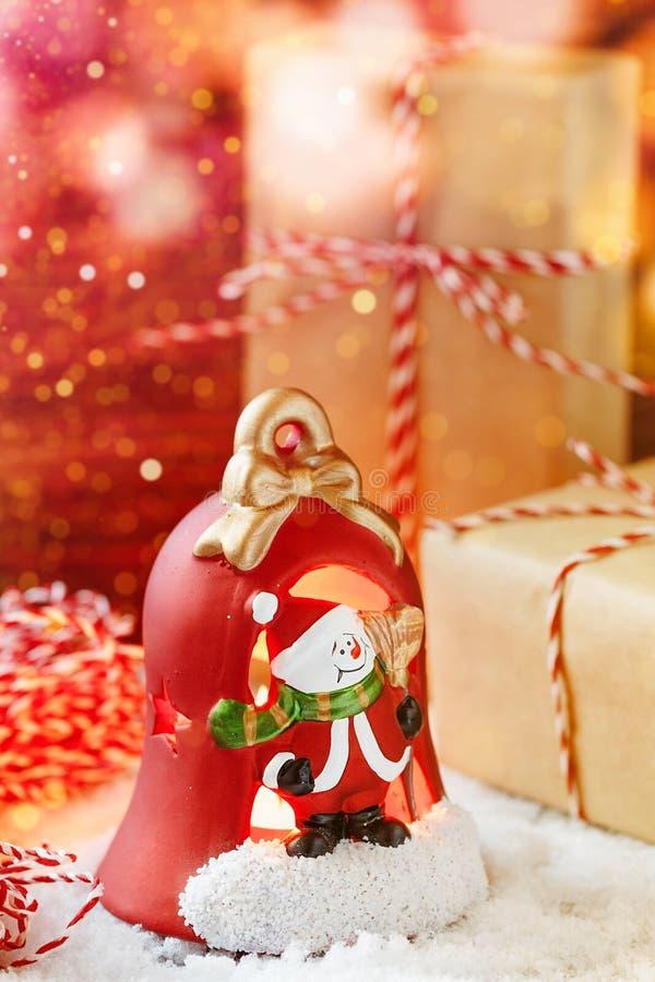 Lanterna della decorazione di Natale fotografie stock libere da diritti