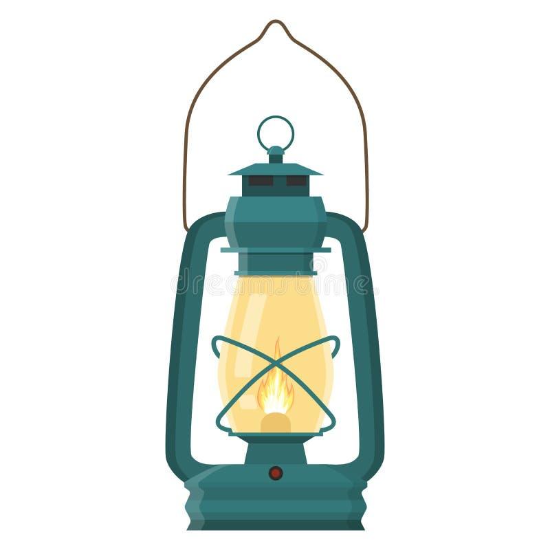 Lanterna di campeggio d'annata illustrazione vettoriale