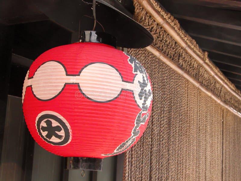 Lanterna di carta di Gion fotografia stock