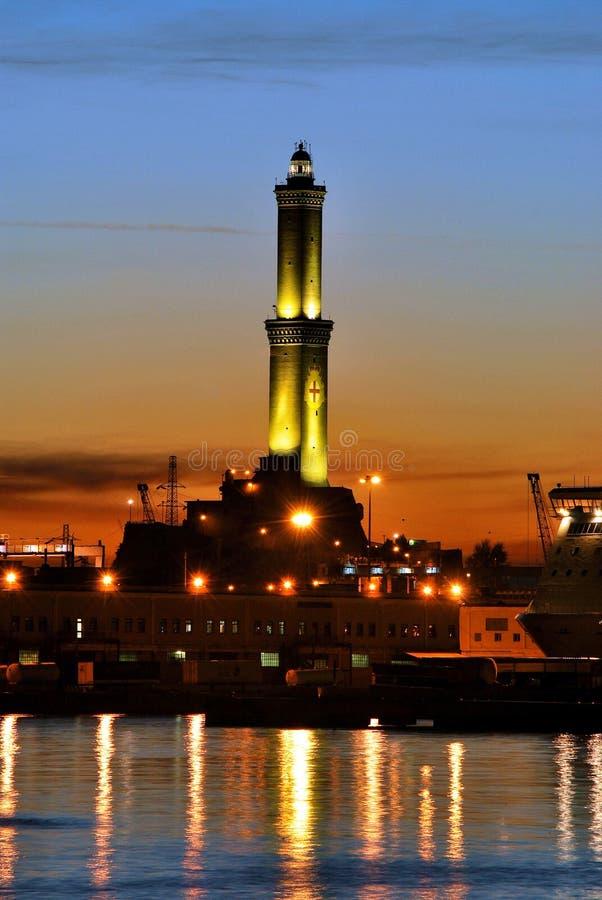 Lanterna di Genova, Italia immagini stock