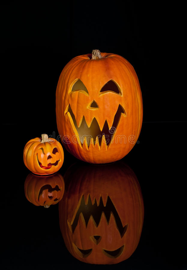 Lanterna di Halloween Jack O immagine stock