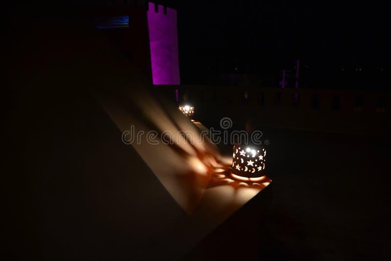 Lanterna di notte di nozze fotografia stock