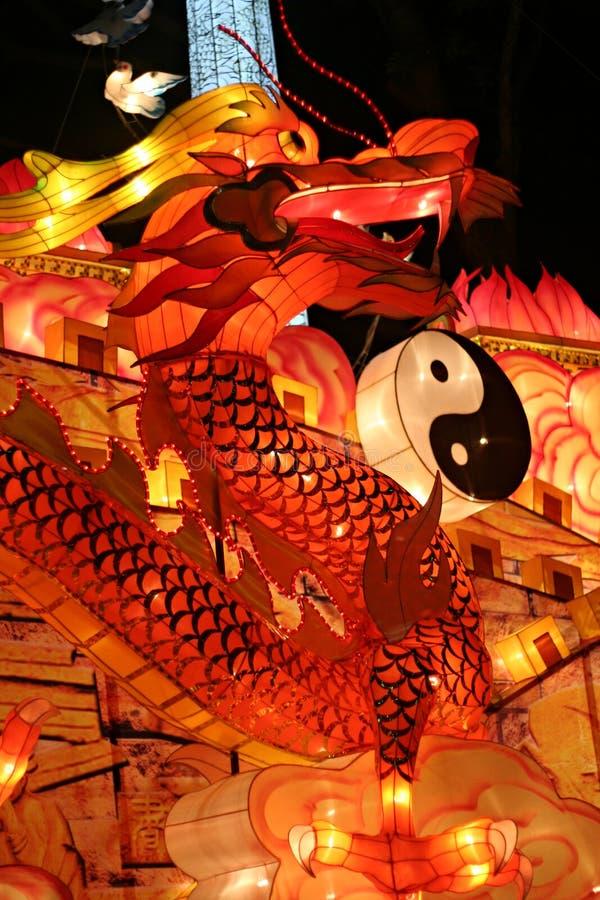 Lanterna do dragão fotografia de stock royalty free