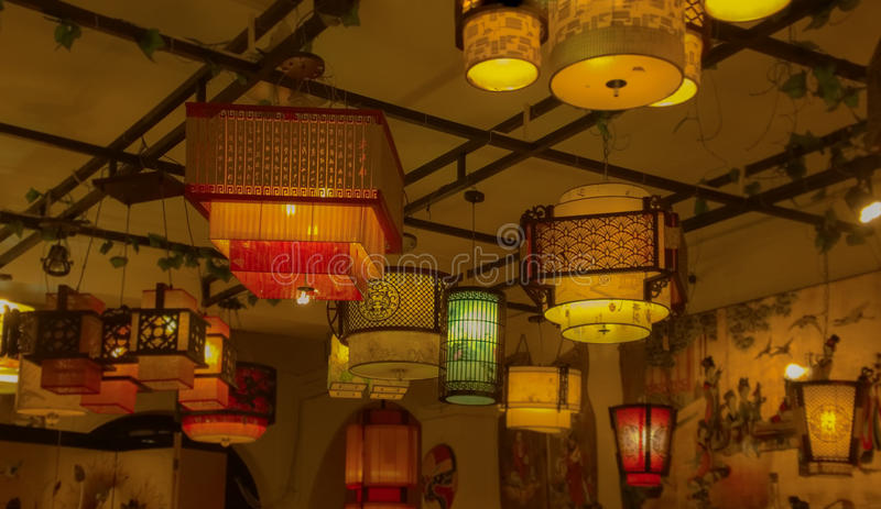 Lanterna do estilo chinês imagem de stock royalty free