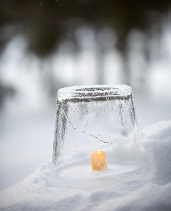 Lanterna do gelo foto de stock