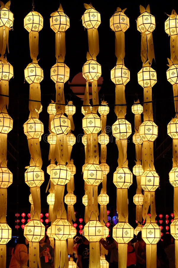 Lanterna dorata fotografia stock