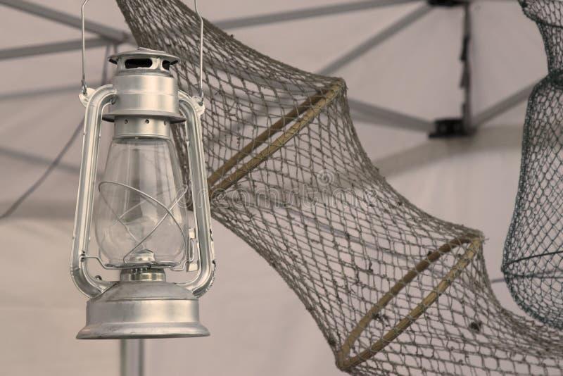 Lanterna e rete a deriva immagini stock