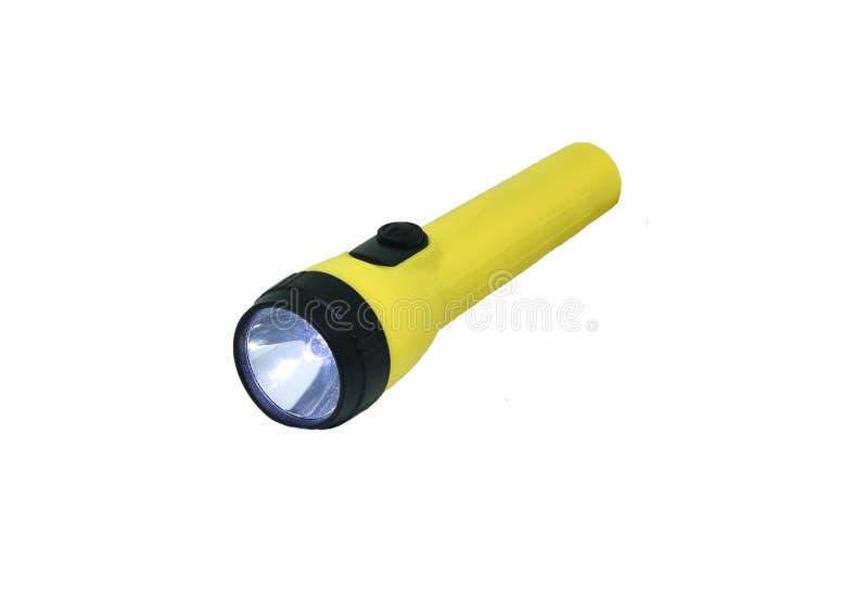 Lanterna elétrica amarela imagem de stock