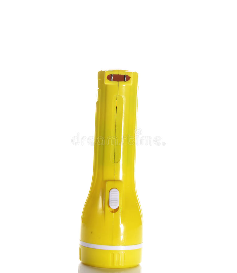 Lanterna elétrica elétrica do bolso no fundo branco imagens de stock royalty free