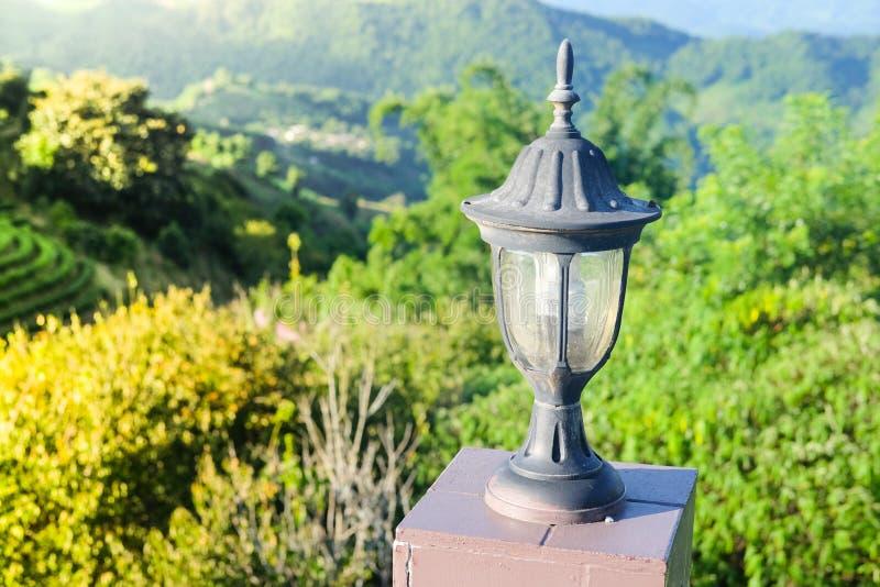 Lanterna em Doi Mae Salong em Chiang Rai Province Thailand fotografia de stock