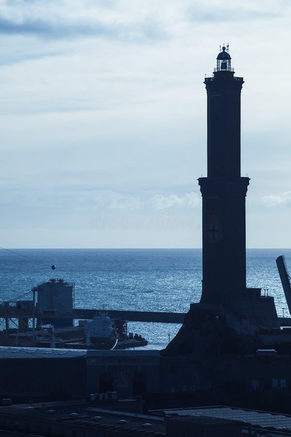 Lanterna Faro di Genova fotografie stock libere da diritti