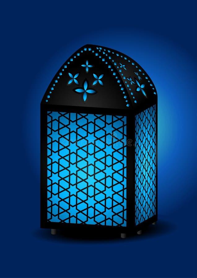 Lanterna islâmica bonita ilustração royalty free