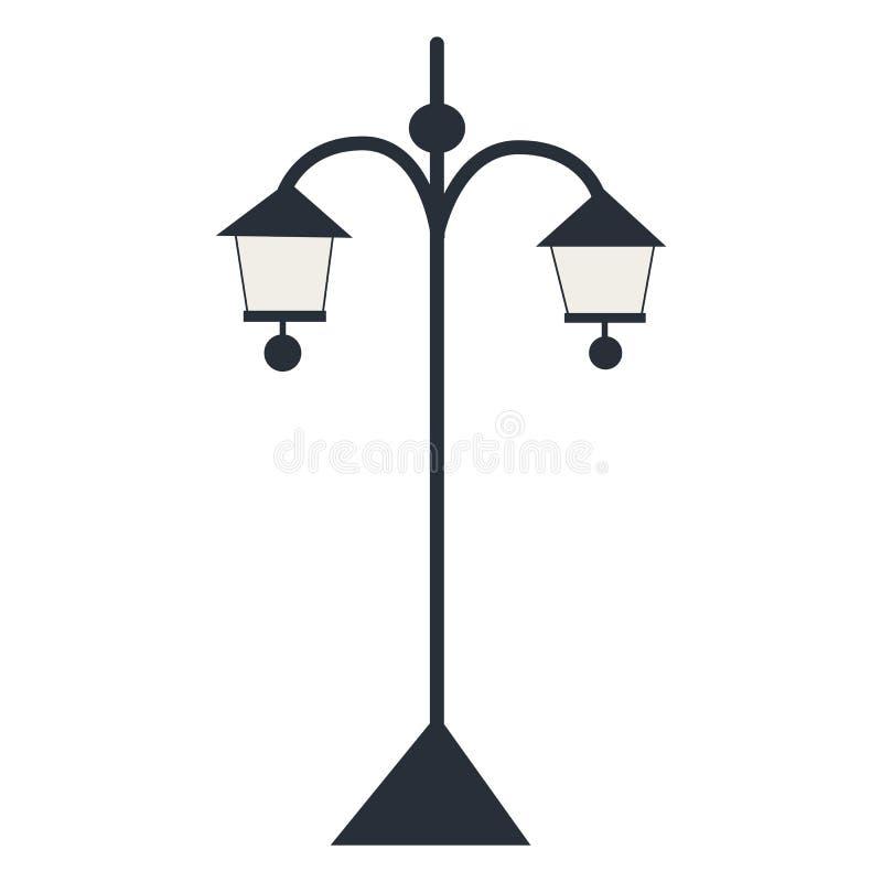 Lanterna isolada da silhueta Ilustração do vetor fotos de stock royalty free