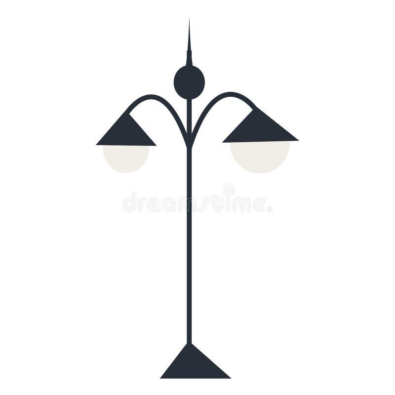Lanterna isolada da silhueta Ilustração do vetor foto de stock