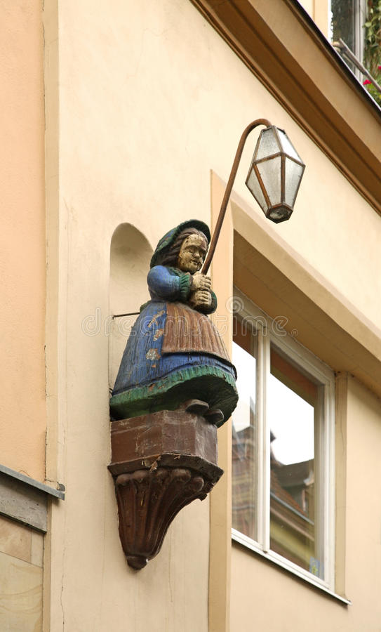 Lanterna in Jelenia Gora poland fotografia stock