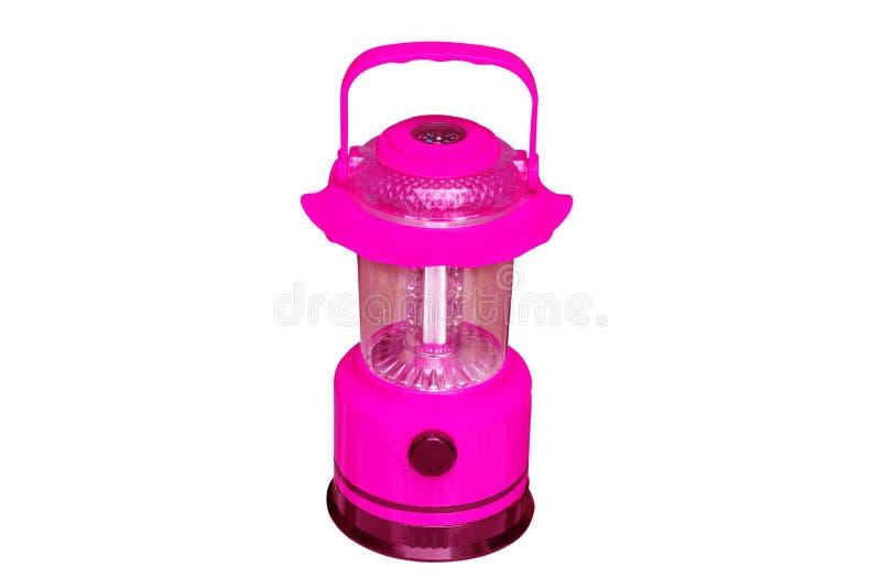 Lanterna moderna del LED con la bussola isolata su fondo bianco fotografie stock