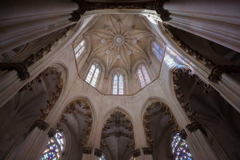 Lanterna ottagonale della cappella della tomba di John I-Batalha, immagine stock libera da diritti