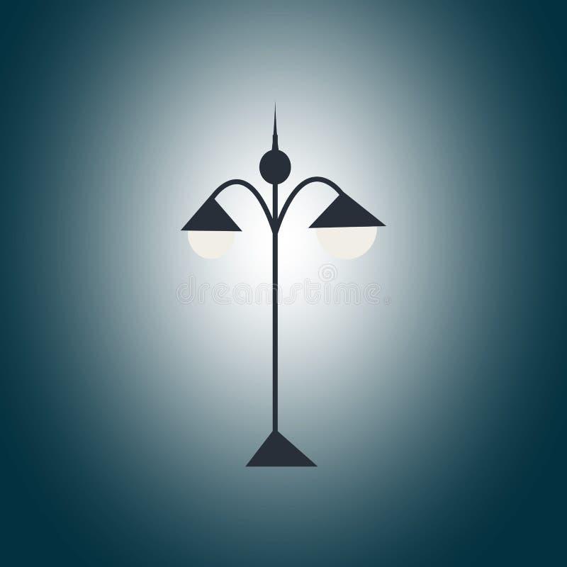 Lanterna preta do jardim na escuridão imagem de stock