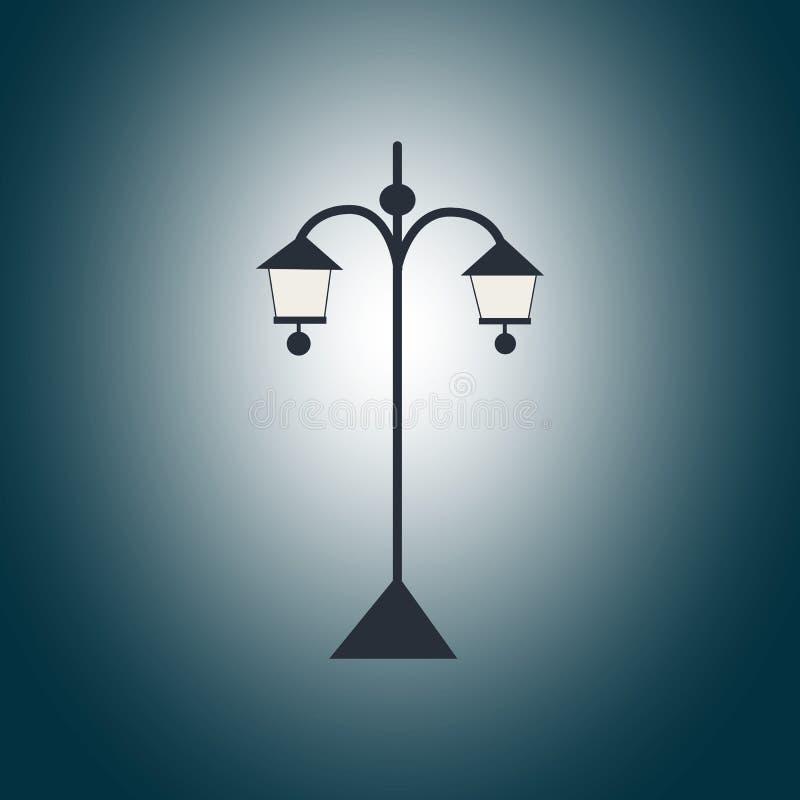 Lanterna preta do jardim na escuridão foto de stock royalty free