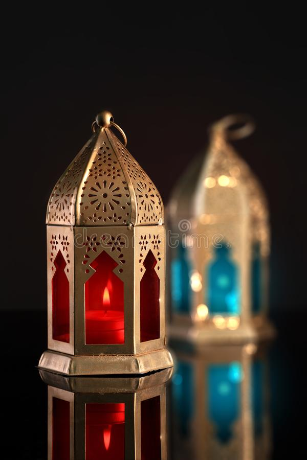 Lanterna ?rabe/isl?mica para a ramad?/Eid Celebrations imagens de stock