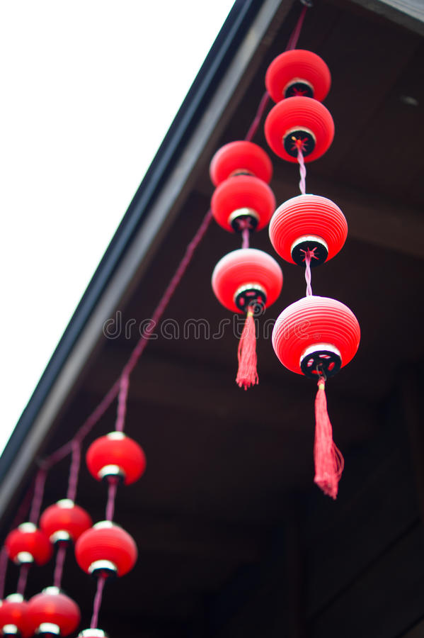 Lanterna rossa cinese Taiwan immagini stock