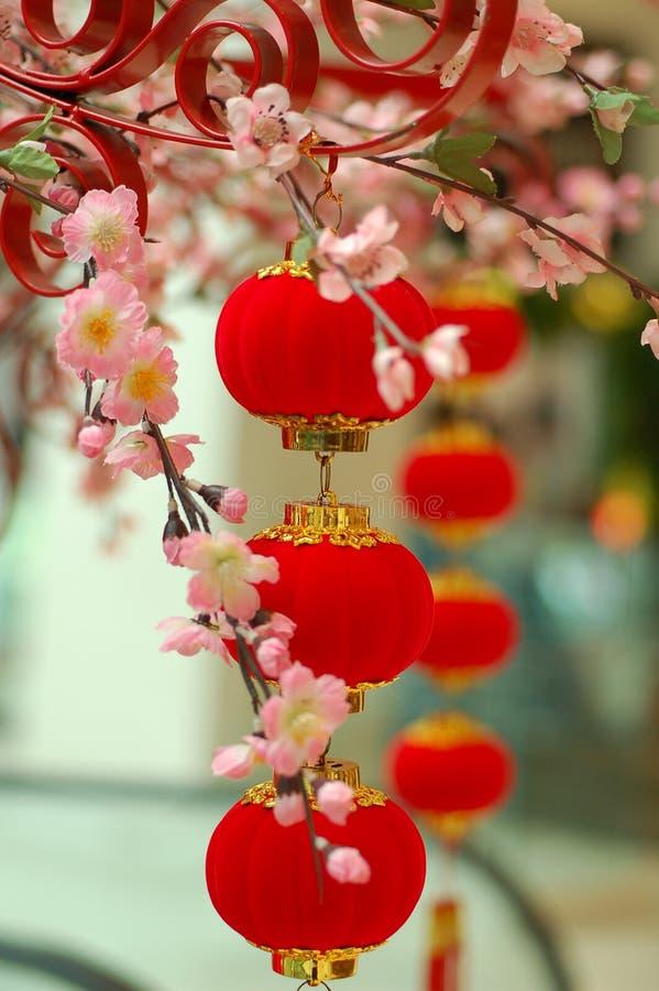 Lanterna rossa tradizionale cinese 3 immagini stock