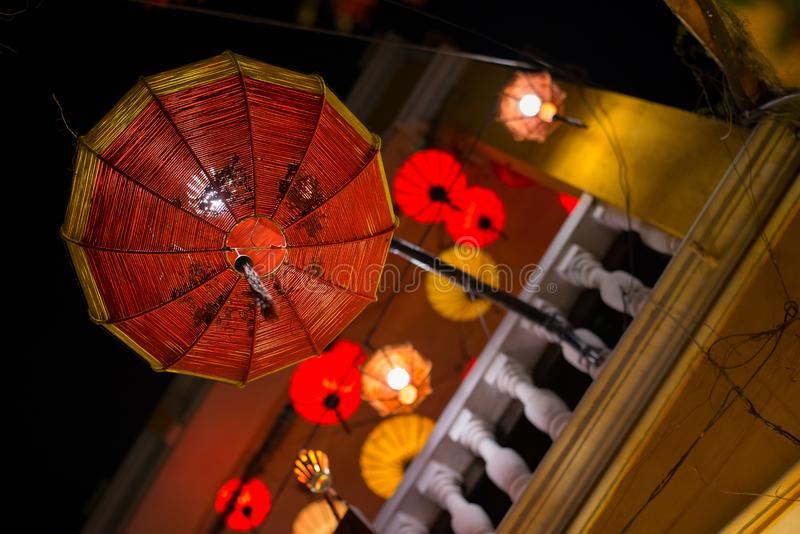 Lanterna rossa tradizionale di Hoi An fotografie stock