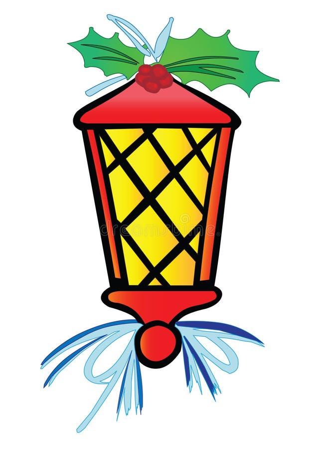 Lanterna stilizzata di natale fotografia stock