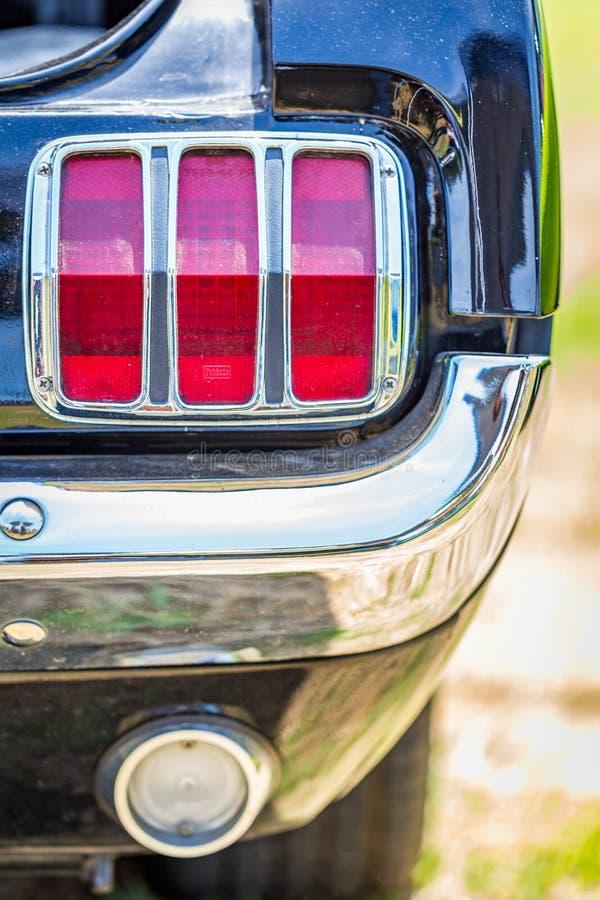 Lanterna traseira 1965 de Ford Mustang fotografia de stock royalty free