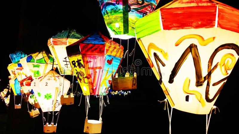 Lanterna variopinta nell'isola di Formosa fotografia stock libera da diritti