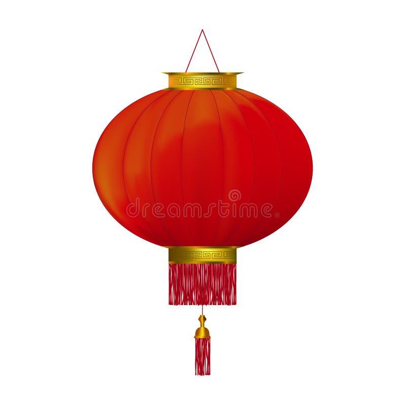 Lanterna vermelha ilustração stock