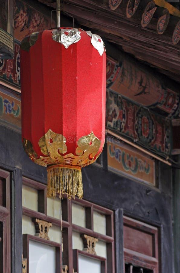 Lanterna vermelha chinesa   fotografia de stock royalty free