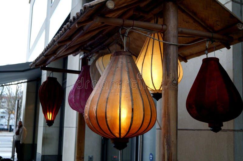 Lanternas bonitas em Berlim, Europa fotos de stock